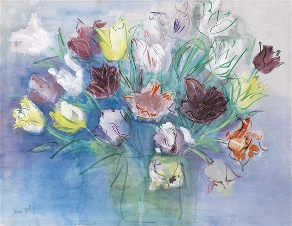 Jean Dufy - bouquet de tulipes -  1935