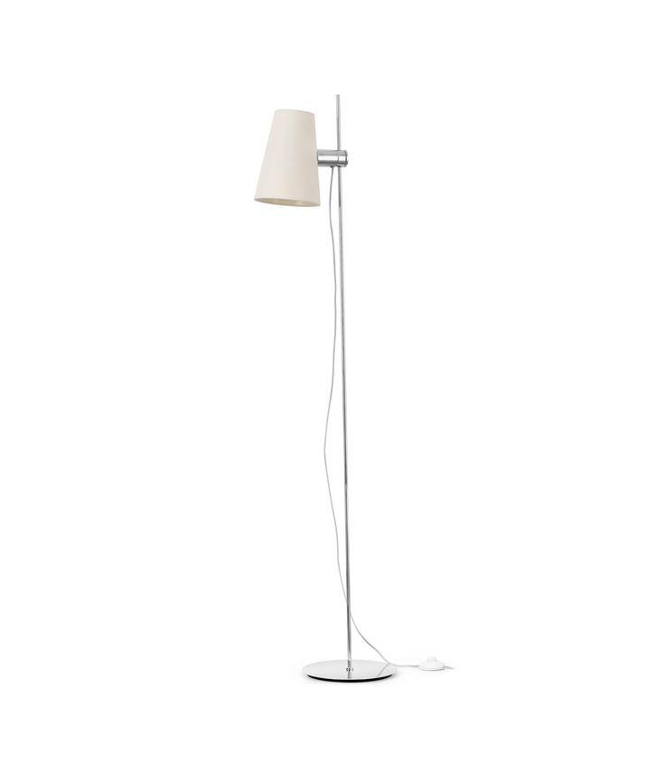Lámpara de pie LUPE cromo detalle 2