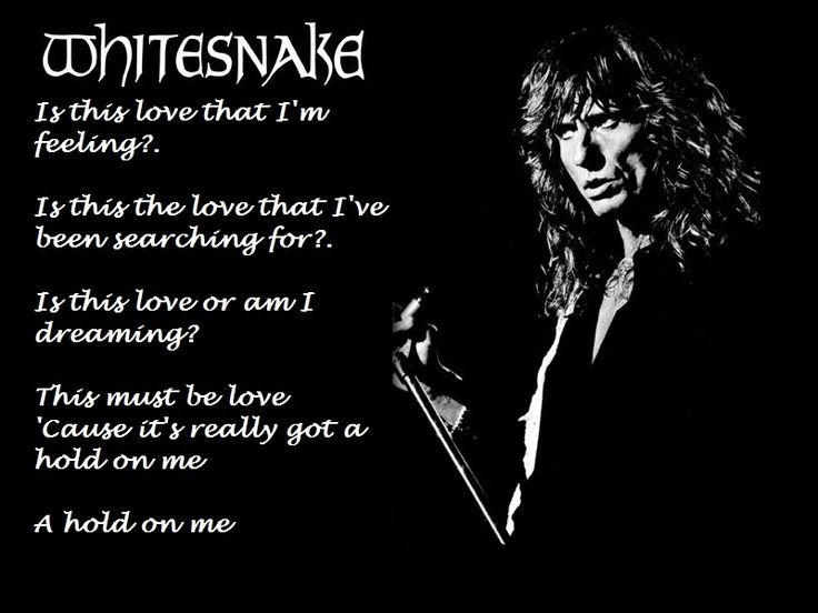 Whitesnake Lyrics | Whitesnake Is this love |
