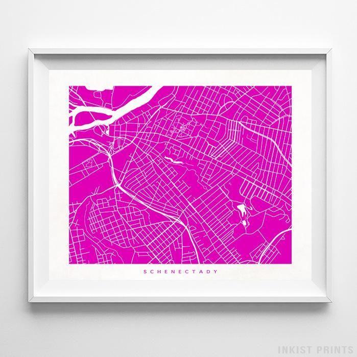Schenectady, New York Street Map Print