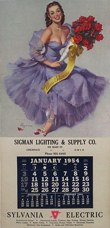 24 besten Calendars Pin up girl Vintage Posters Ads Bilder auf ...