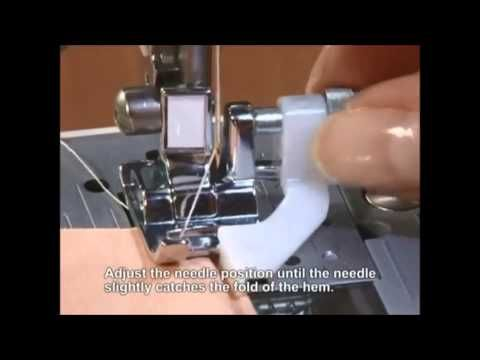 Brother Blind Stitch Foot - YouTube