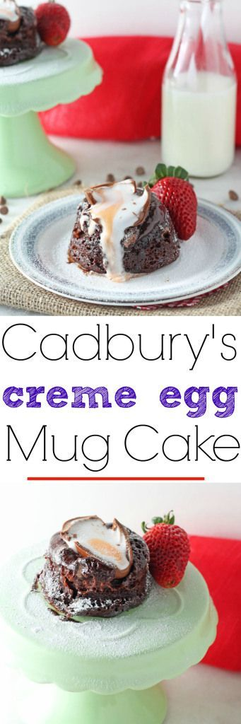 A delicious molten chocolate Cadbury's Creme Egg Mug Cake recipe. Ready in just 4 minutes!   My Fussy Eater Blog