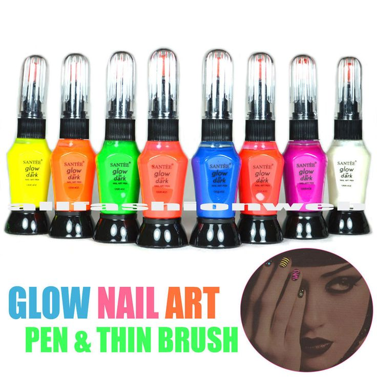 148 best nails images on pinterest diy accessories and artists 8 full santee glow in dark nail art draw pen thin brush polish lacquer prinsesfo Gallery