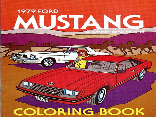 Vintage 1979 Mustang Coloring Book