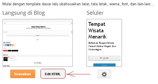 Edit HTML Tamplate