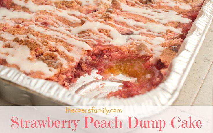 Strawberry Peach Dump Cake