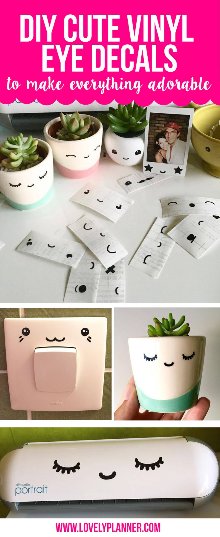 DIY cute eyes decals to make everything adorable