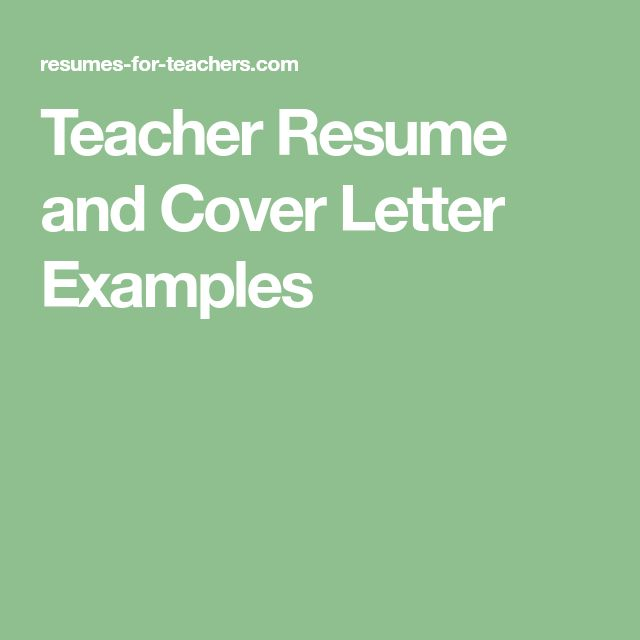 The 25+ best Teacher resumes examples ideas on Pinterest - references in resume sample