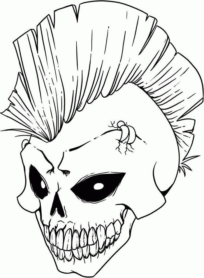184 best coloring skulls images on pinterest | drawings, drawing ... - Coloring Pages Roses Skulls