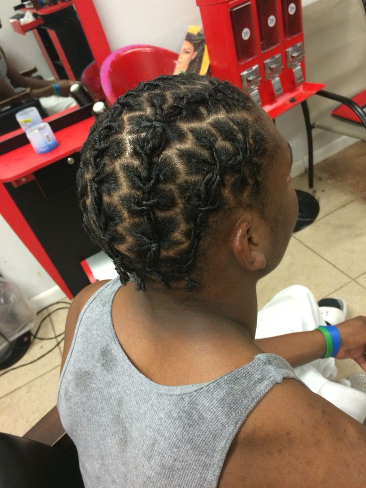 Starter natural dreads started with Gel comb twist then ...