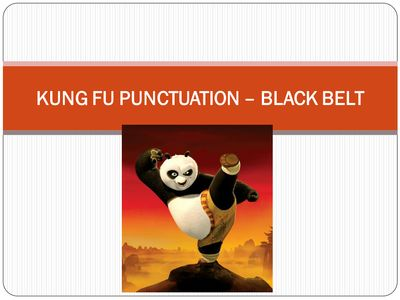 Kung Fu Punctuation by Mandy Boast - UK Teaching Resources - TES