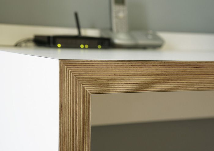 Formica & Birch Plywood Desk by Matt Antrobus