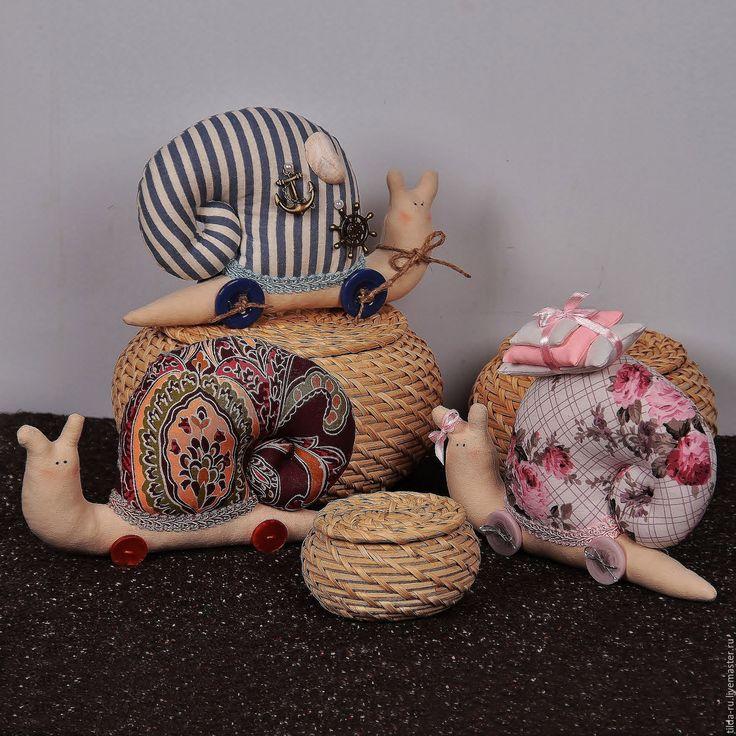 Купить Улитка - улитка Тильда, улитка в подарок, улитка ручной работы, улитка текстильная
