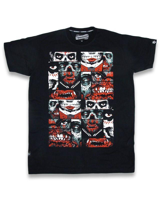 Liquor Brand Herren NIGHT CRAWLERS T-Shirt.Tattoo,Biker,Oldschool,Custom Style
