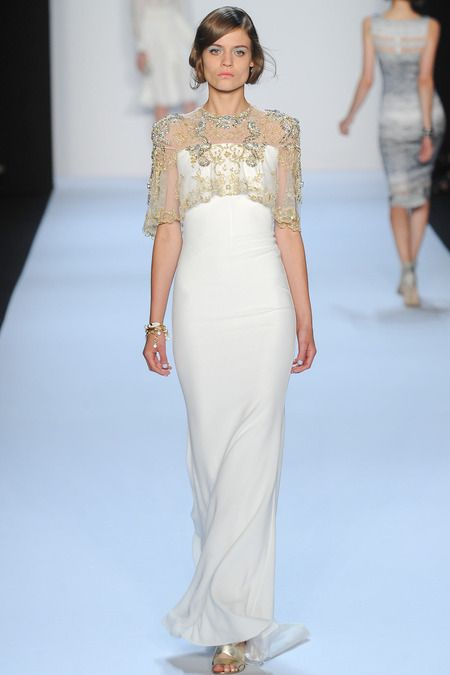What to wear to a rooftop wedding // Badgley Mischka Spring 2014 Ready-to-Wear Collection