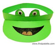 Frog paper visor craft