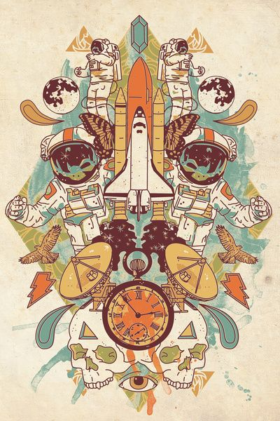 """""""Spaced Out"""" Art Print by John Fishback on Society6."""