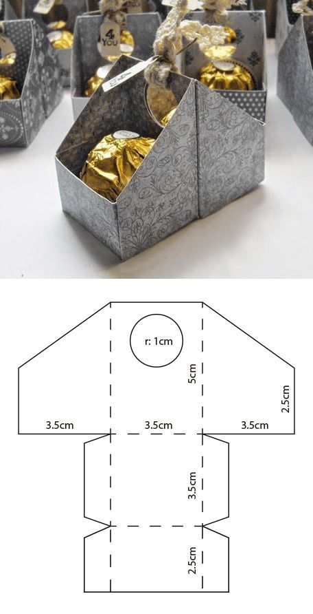 Ferrero box template – Anleitung #diyhochzeit #ga…