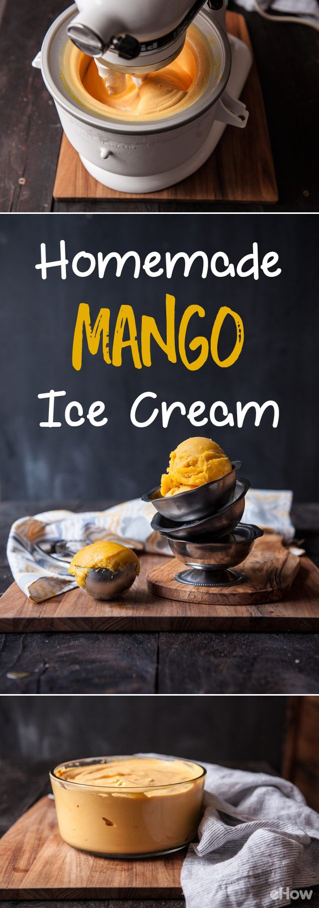 DIY fresh mango ice cream! This creamy, fresh treat is exactly what your summer needs! Recipe here: http://www.ehow.com/way_5445260_homemade-mango-ice-cream.html?utm_source=pinterest.com&utm_medium=referral&utm_content=freestyle&utm_campaign=fanpage