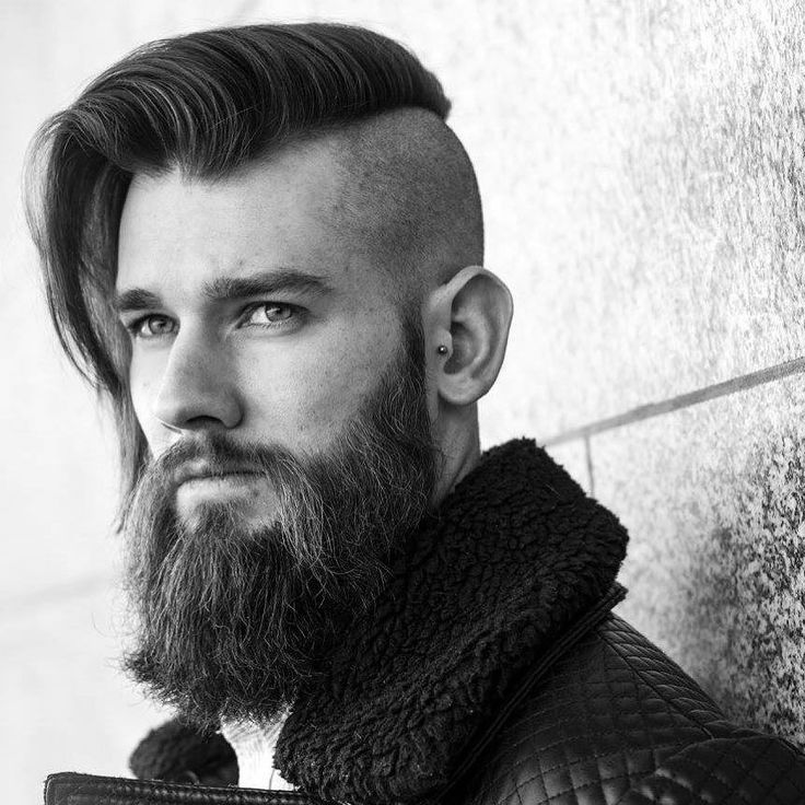 disconnected undercut with long hair for men