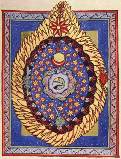 hildegard von bingen | sacred geometry art, cosmic egg