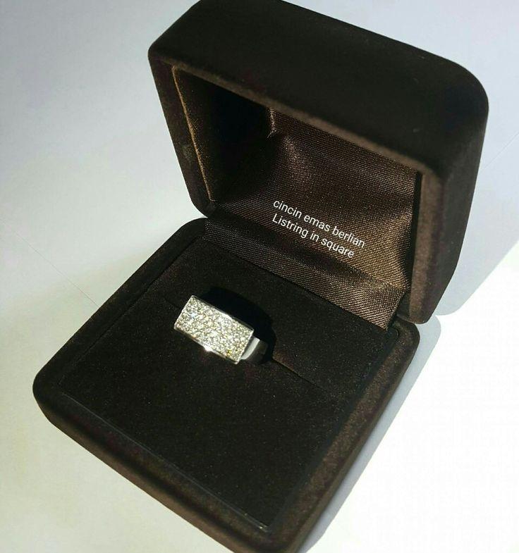 New Arrival🗼. Cincin Emas Berlian Listring in Square💍.   🏪Toko Perhiasan Emas Berlian-Ammad 📲+6282113309088/5C50359F Cp.Antrika👩.  https://m.facebook.com/home.php #investasi#diomond#gold#beauty#fashion#elegant#musthave#tokoperhiasanemasberlian