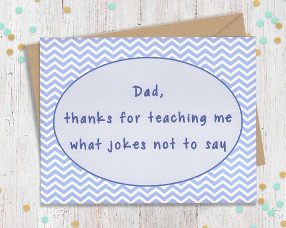 5 x 7 Funny Fathers Day Fathers Day Card by FourLetterWordCards
