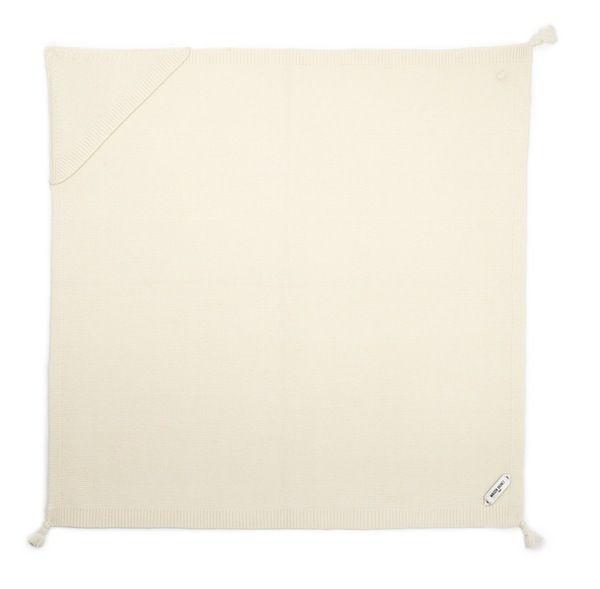 Couverture bébé cachemire Oscar écrue - MAISON BRUNET - http://www.maisonbrunet.com/product/couverture-oscar?ref=category-bebe #cachemire #cashmere #knit #knitwear #bebe #baby #madewithlove #conçuaparisavecamour
