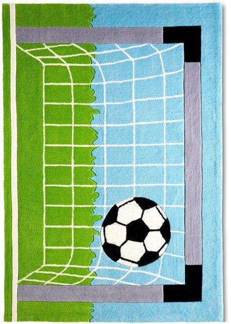 """Kinderteppich """"Fußball"""", bpc living, grün"""