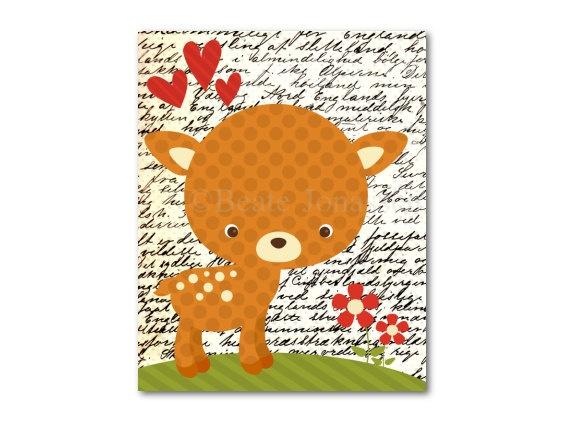 Printable Nursery Art  Little Deer by CuteMemories on Etsy, $8.00