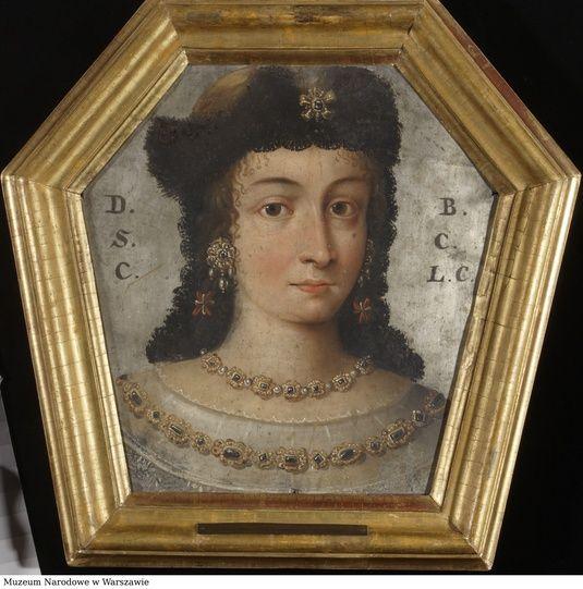 Portret trumienny Barbary Domicelli 1.v. Lubomirskiej 2.v. Grudzińskiej