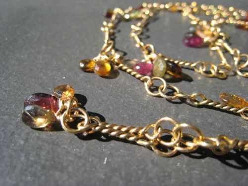 Jewel tone necklace by mmadden Tundra sapphires are such a natural match for this amazing handmade gold chain. This necklace is 3 feet long and looks just as great worn in a single loop or doubled up. http://ift.tt/2hNLSNh Free eBook at http://ift.tt/219cweU with easy jewelry making projects.  Jewel tone necklace by mmadden Tundra sapphires are such a...