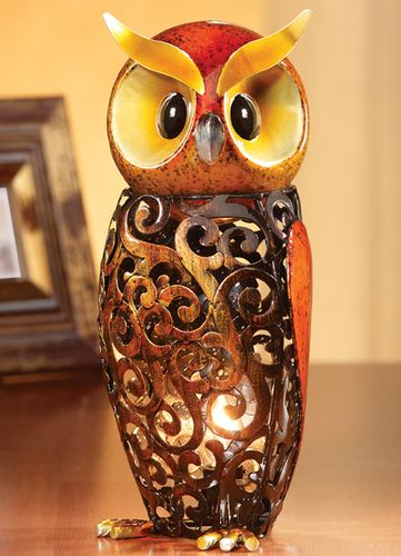 $25 Starting Bid: Figurine Luminaries Night Light Owl