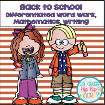 YES! This is my BACK TO SCHOOL BARGAIN BUNDLE FOR YOU! Visit this site to learn more!! It is filled with activities for Word Work, Writing, and Mathematics and YES each activity is differentiated to meet low/average/advanced levels in your