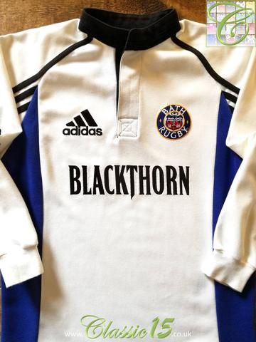 Official Adidas Bath away rugby shirt from the 2002/2003 season.