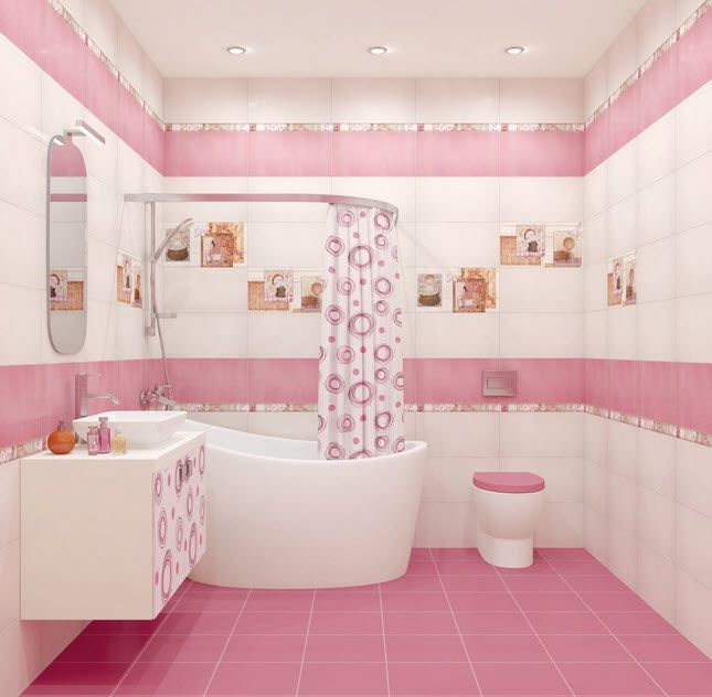 35 Pink Bathroom Floor Tiles Ideas And Pictures Bathroom Style Pink Bathroom Bathroom Styling