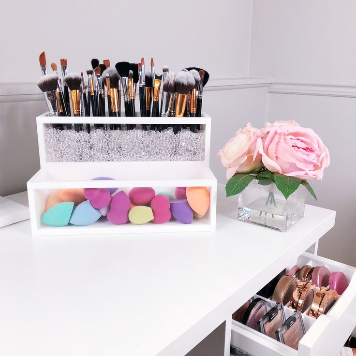 2 Tier Makeup Brush Holder | Makeup Organizer | Brush Holder