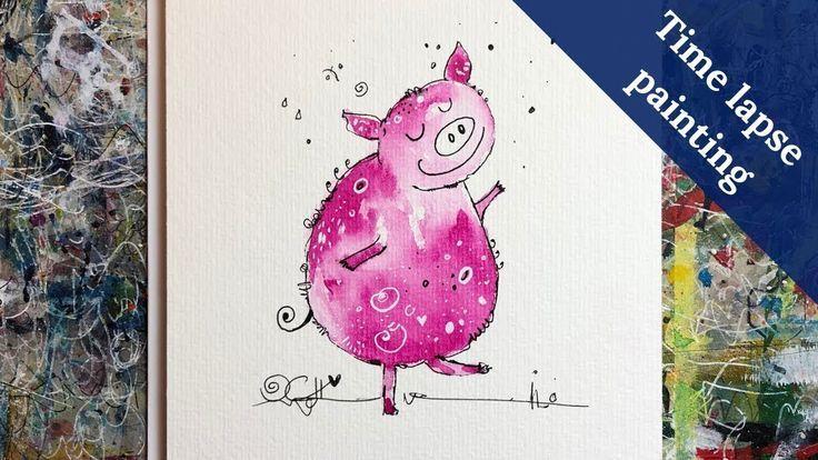 Happy Pig Painting Time Lapse Glucksschweinchen Im Zeitraffer Hier Ein Kleines Zeitraffer Video Von Meinem Glu Schwein Malen Idee Farbe Malerei Inspiration