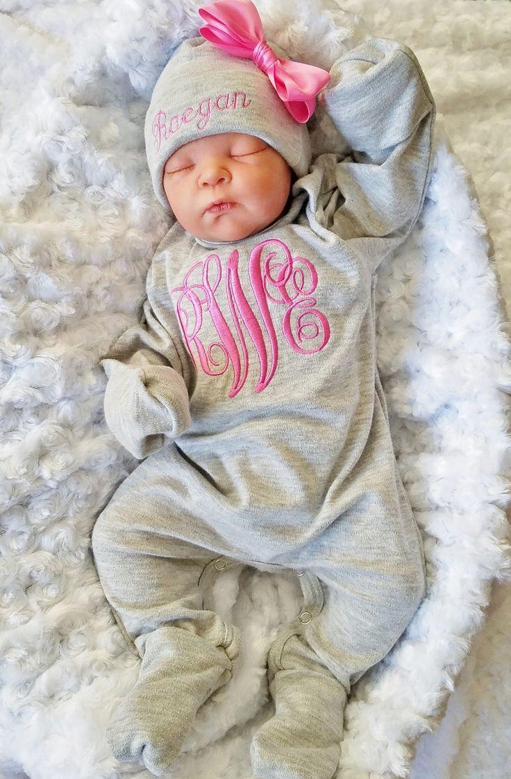 Baby Girl Footed Sleeper Baby Girl Take Home Outfit Bebé Recién Nacido Personaliz Ropa Para Niño Recién Nacido Regalos De Niña Bebé Ropa De Bebe Recien Nacido