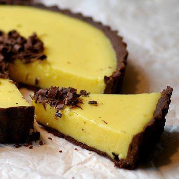 Шоколадно-лимонный торт