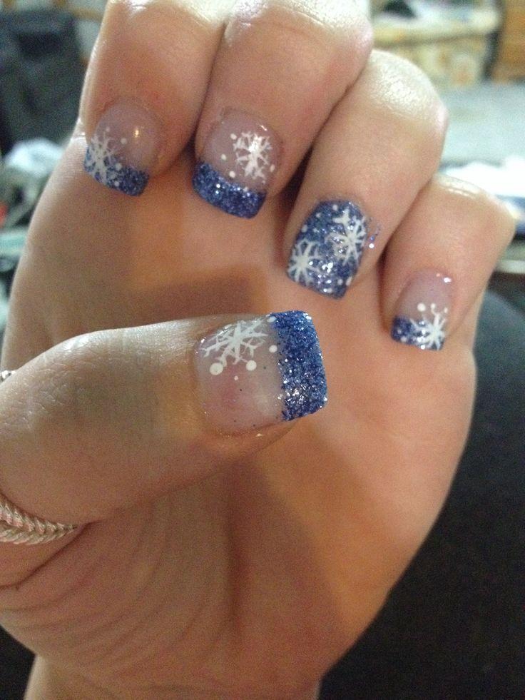 holiday acrylic nails