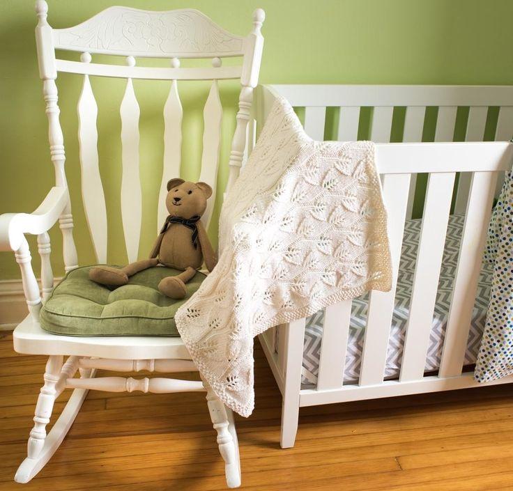 Leafy Baby Blanket KIT http://crocheting.myfavoritecraft.org/leafy-baby-blanket-kit/