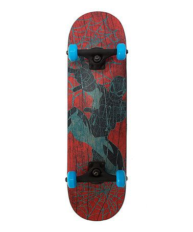 This Red & Black Ultimate Spider-Man Skateboard is perfect! #zulilyfinds