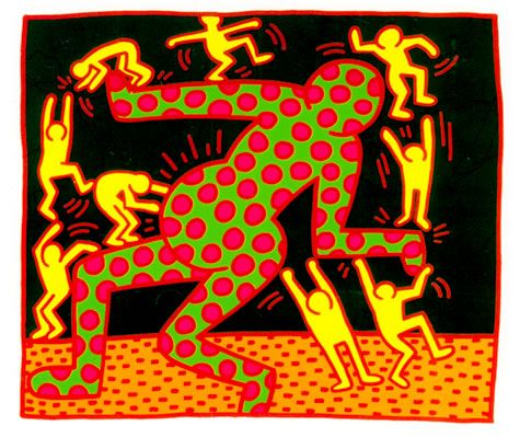 keith herring images | Untitled - Keith Haring - WikiPaintings.org