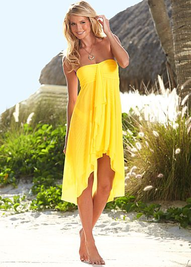 Cute cover up! Although I don't think I could wear yellow since I'm blonde... Might look a little funny! Haha.