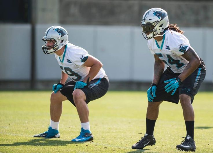 OTAs week 2 - 6/2 - LBs Luke Kuechly and Shaq Thompson