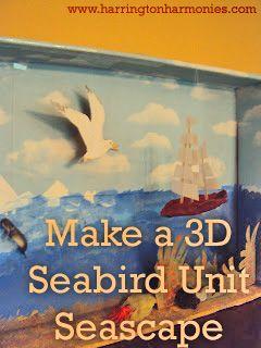 Seabird Unit ~ Make Your Own Seabird Diorama from Harrington Harmonies