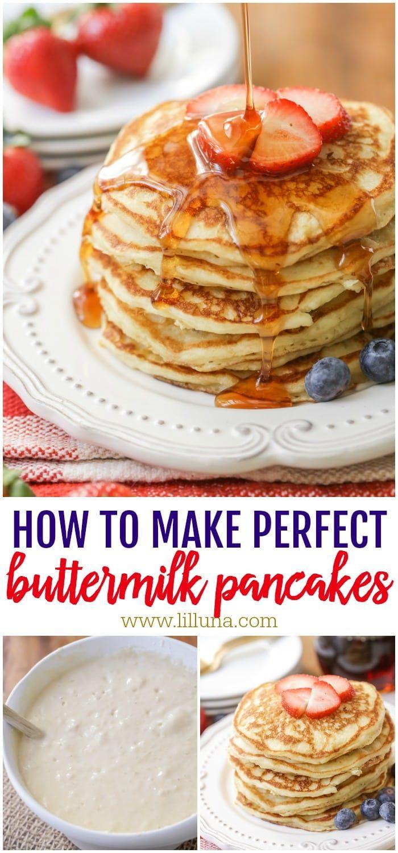 Homemade Buttermilk Pancakes Fluffy Golden Lil Luna Recipe Homemade Buttermilk Pancakes Homemade Buttermilk Buttermilk Pancakes