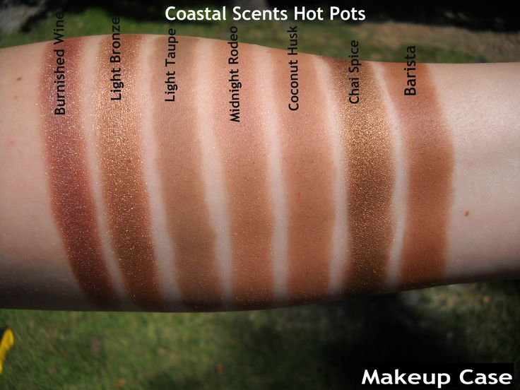 Coastal Scents hot pot swatches I like a Satin finish, not matte